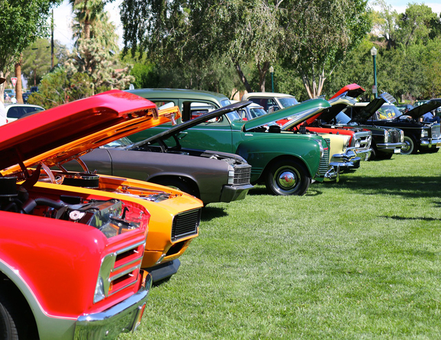 File Vintage cars of many makes and models will once again fill Wilbur Square Park for the Wurst Dam Car Show, part of the 21st annual Wurstfest on Saturday, Sept. 30.