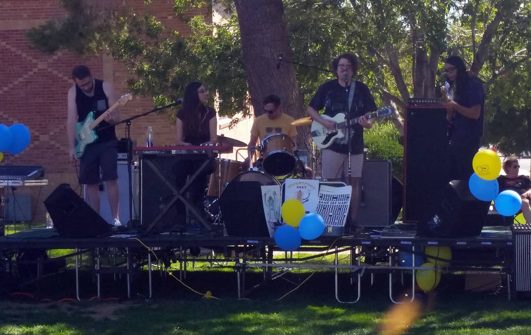 Celia Shortt Goodyear/Boulder City Review Boulder City band Same Sex Mary, from left, Brian Cantrell, Tsvetelina Stefanova, Micah Malcolm, James Adams and Tyler Kawada, will perform at a benefit c ...