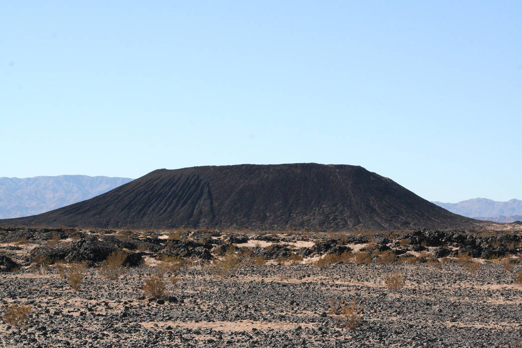 Deborah Wall Amboy Crater is just a few minutes drive west of Amboy, California, along scenic U.S. Route 66.