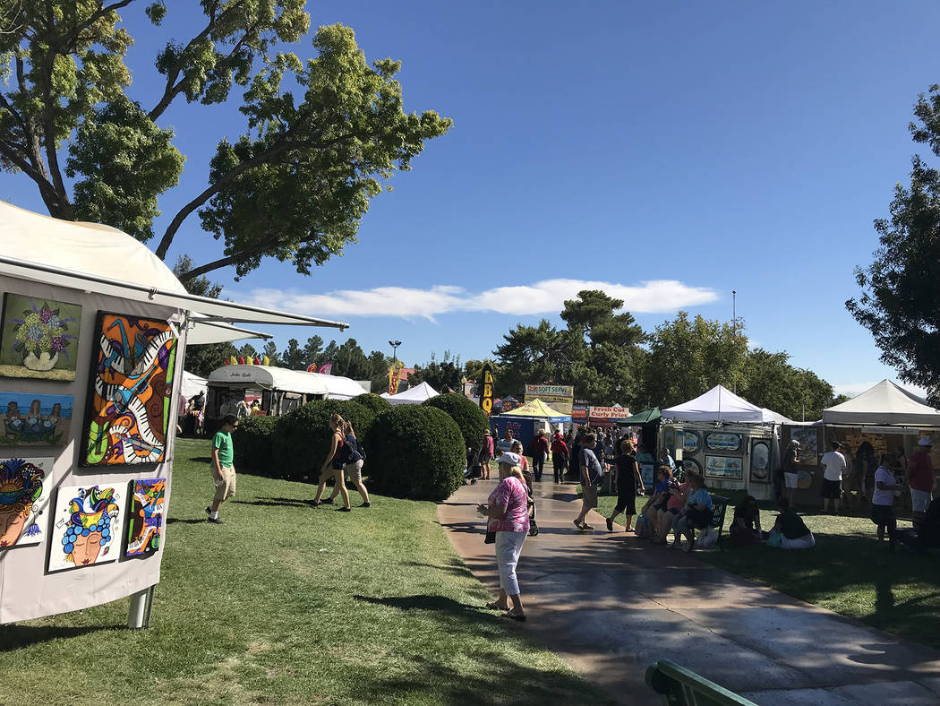 Hali Bernstein Saylor/Boulder City Review Thousands of people came to Boulder City on Saturday for the 55th annual Art in the Park presented by Boulder City Hospital.