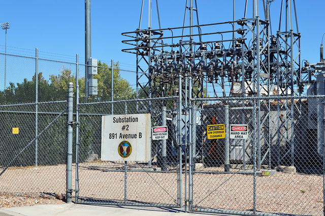 File  Substation two at Avenue B and Adams Boulevard is one of six substations that supply power to Boulder City.