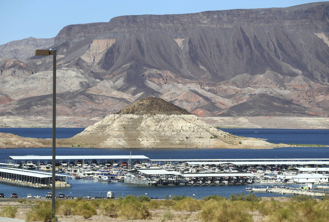 Chase Stevens/Las Vegas Review-Journal Boats docked at Las Vegas Boat Harbor at Lake Mead National Recreation Area earlier this year. National Park Service officials are seeking comments from the  ...