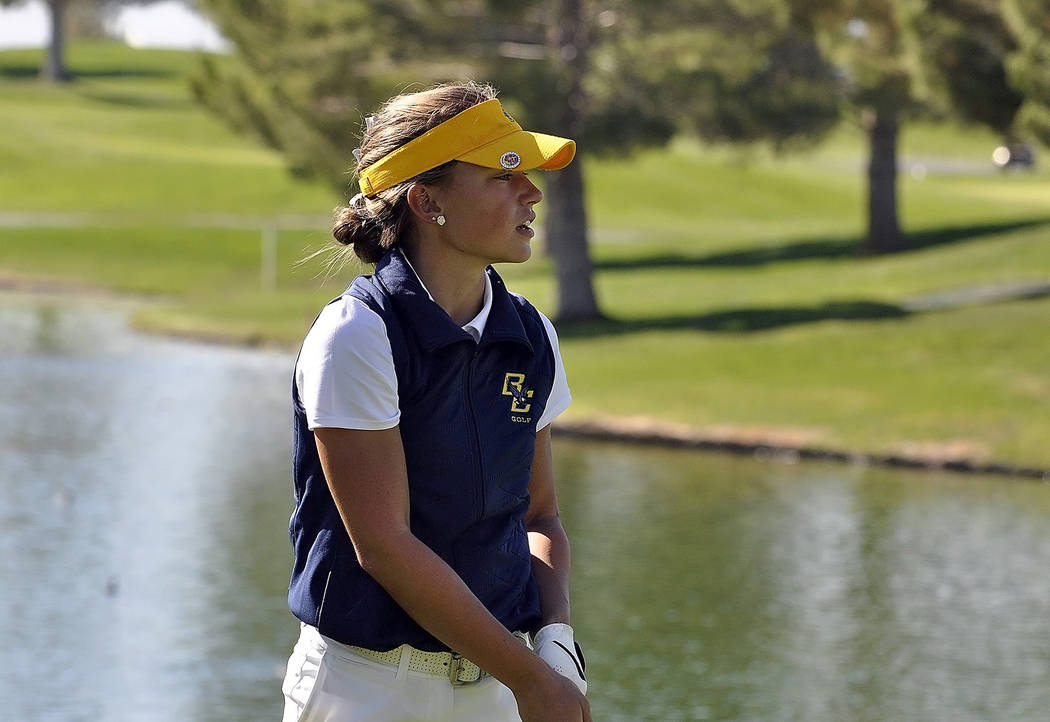 Horace Langford Jr./Pahrump Valley Times Lani Potter, a senior at Boulder City High School, won her second individual state title on Oct. 19 while helping her teammates capture the team title afte ...