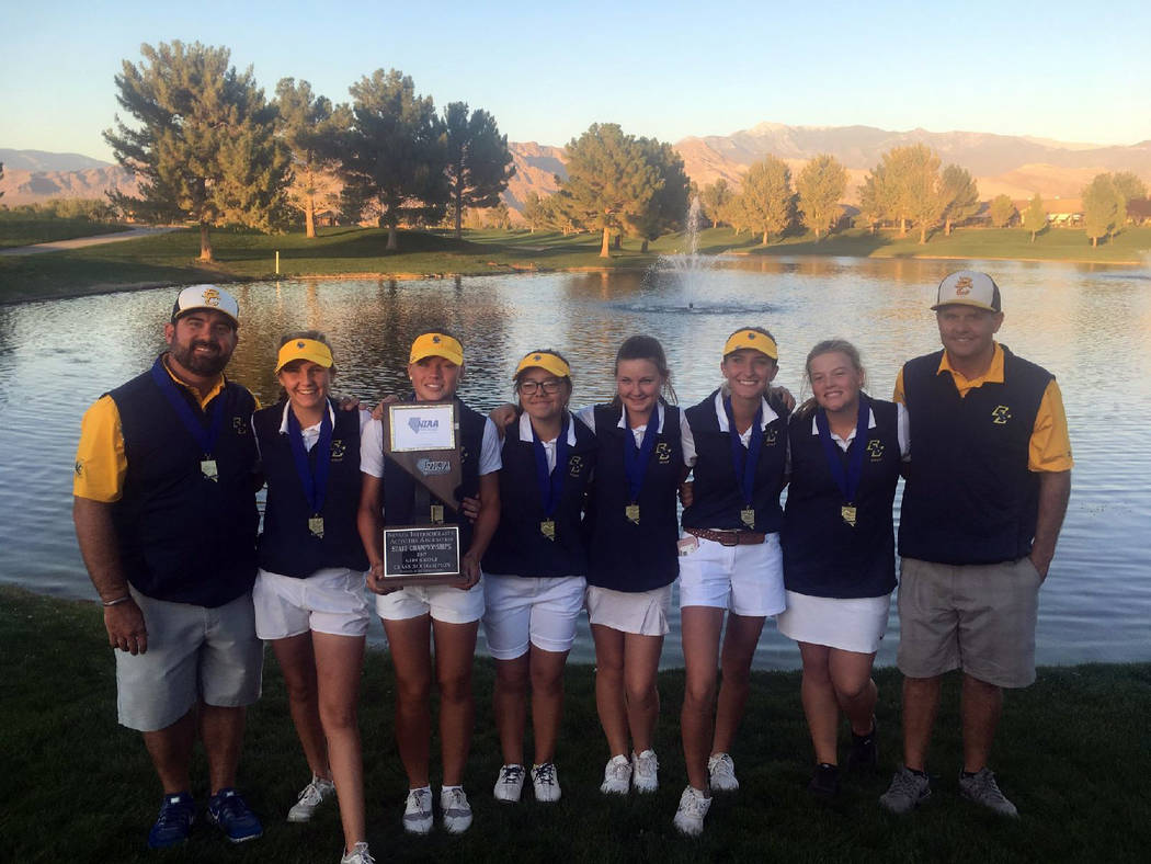 Kelly Reese The Boulder City High School girls golf team captured its first state championships since 2010 after competition Oct. 18 and 19 at Mountain Falls Golf Club in Pahrump, Nevada.