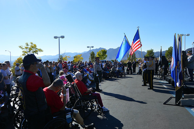 File Civilians and veterans will pay their respects to those who have served on Veterans Day at the Nevada State Veterans Home in Boulder City.