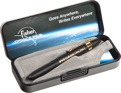 Fisher Space Pen Boulder City-based Fisher Space Pen created a special VegasStrong design to help victims of the Oct. 1 Route 91 Harvest music festival shooting in Las Vegas. Proceeds from sales o ...