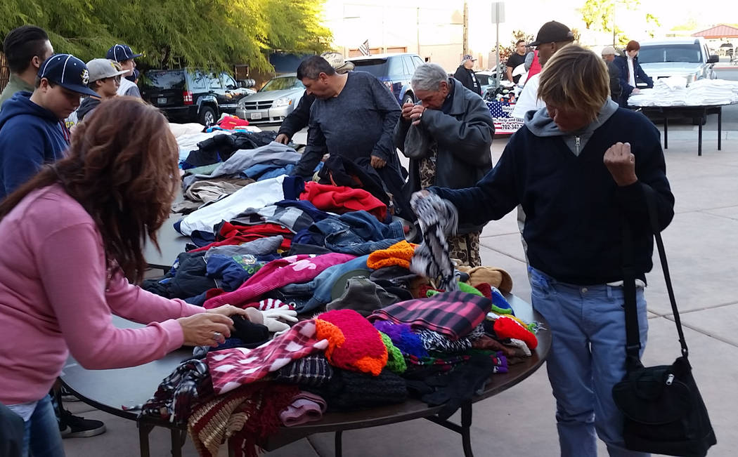 Don Trumble People donate blankets and jackets for needy people in Las Vegas to a past Blaze's Wish drive.