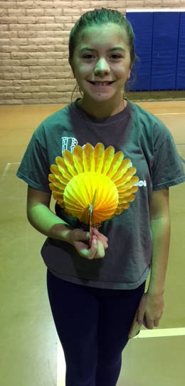 Kelly Lehr Coming in first place in the junior high school age division of the Boulder City Parks and Recreation Department's annual Turkey Shoot held Nov. 14 and 15 was Haley West.