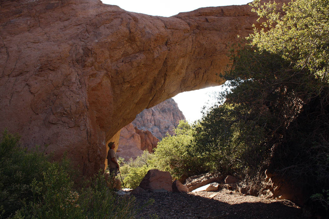 Deborah Wall  A rare natural bridge can be found in the Eldorado Mountains near Nelson, about 25 miles south of Boulder City.