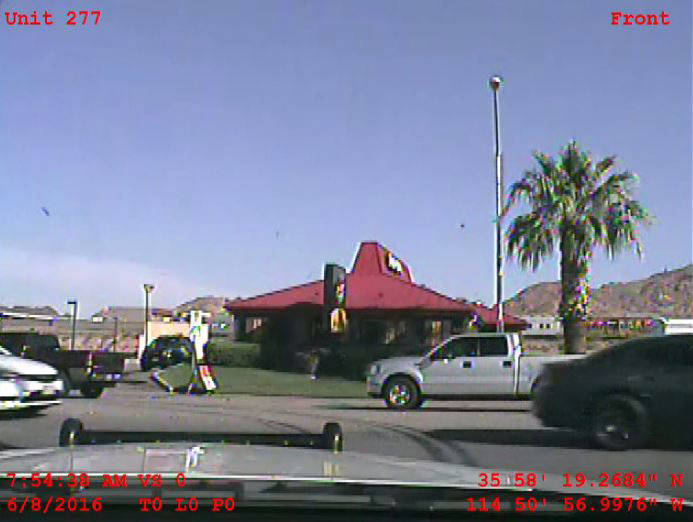 YouTube Video The initial dash-cam video given to Boulder City resident John Hunt's defense attorney includes red print and identifies the feed coming from unit 277. Hunt has been charged with obs ...