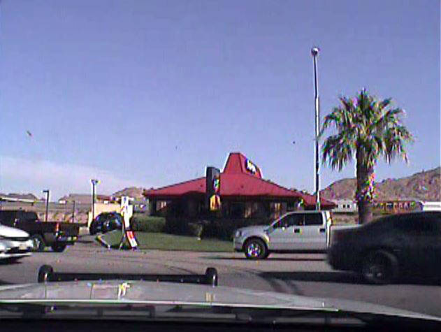 Submitted evidence In the dash-cam video provided to the defense on July 5, 2017, by the Boulder City Police Department there is no red print or unit number.