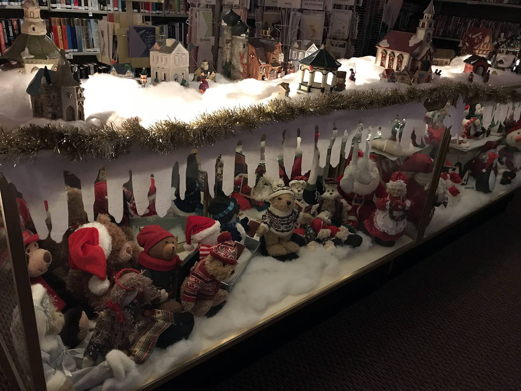 Hali Bernstein Saylor/Boulder City Review A snowy holiday village and an assortment of holiday stuffed animals and figurines are among the items available in the gift shop at the Senior Center of  ...