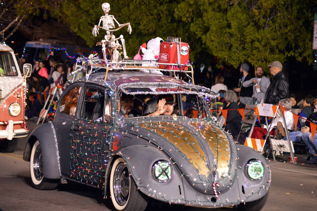 Celia Shortt Goodyear/Boulder City Review Santa's Electric Night Parade featured almost 100 different entries including decked out Volkswagen Bugs.