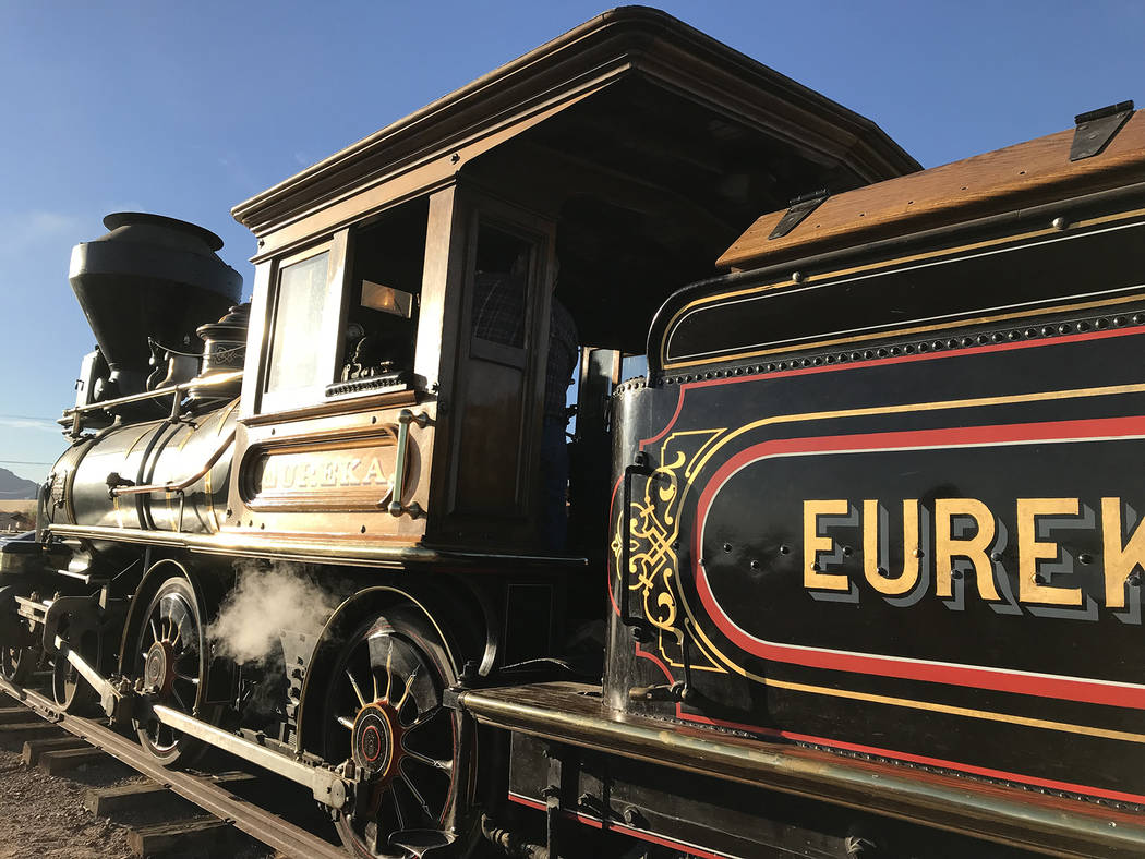 Hali Bernstein Saylor/Boulder City Review The Eureka and Palisade locomotive, one of only three existing steam engines of its type and the only one that works, is at the Nevada State Railroad Muse ...