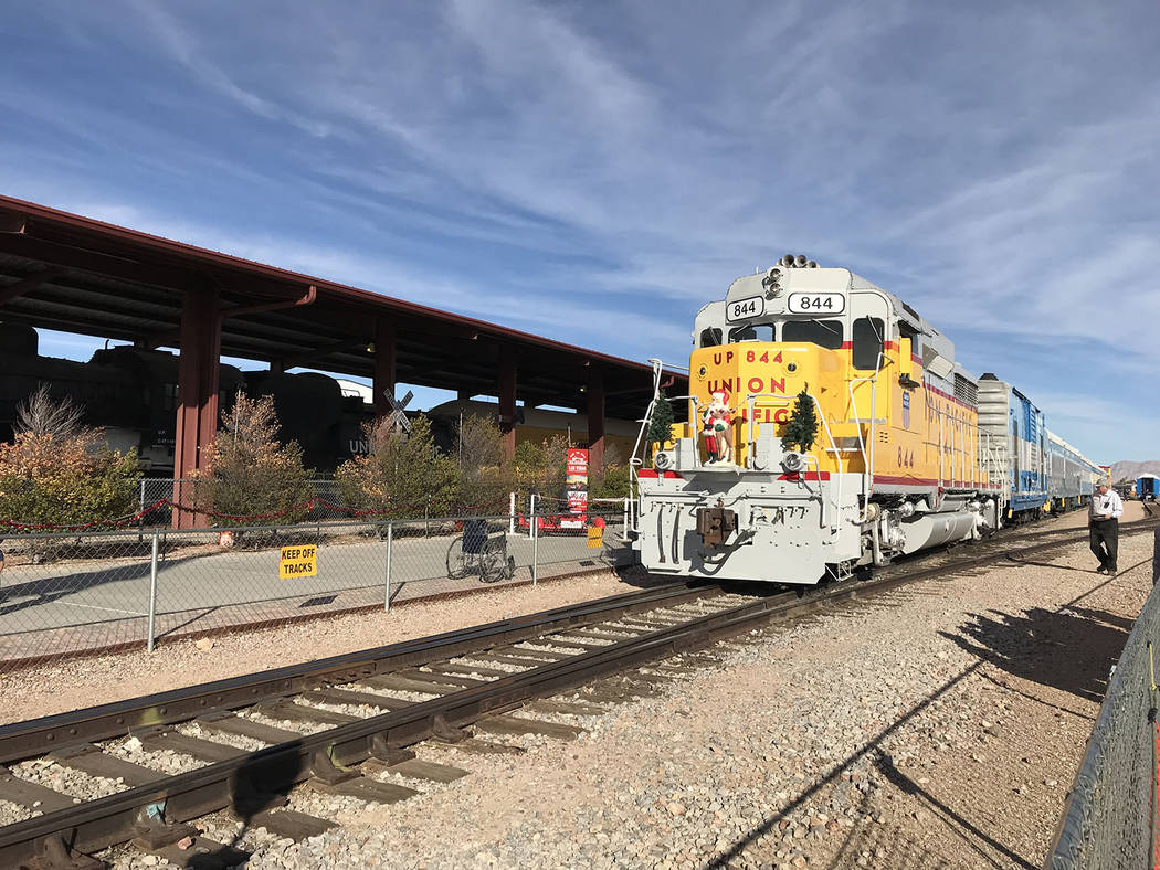 Hali Bernstein Saylor/Boulder City Review Holiday stories, hot cocoa, cookies and, of course, a visit by Santa Claus, are all part of the fun as Nevada Southern Railway hosts its annual Pajama Tra ...