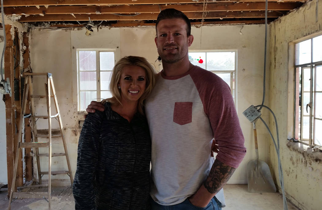 """Celia Shortt Goodyear/Boulder City Review Bristol and Aubrey Marunde of """"Flip or Flop Vegas"""" are remodeling the house at 627 Avenue G. The episode documenting it will air in the summer of 2018."""