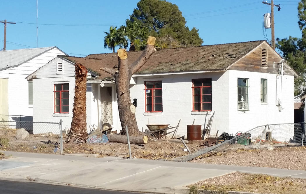 Celia Shortt Goodyear/Boulder City Review The home at 627 Avenue G was built in 1940 and measures 690 square feet. Remodeling plans for the house include adding two bedrooms and a bathroom.