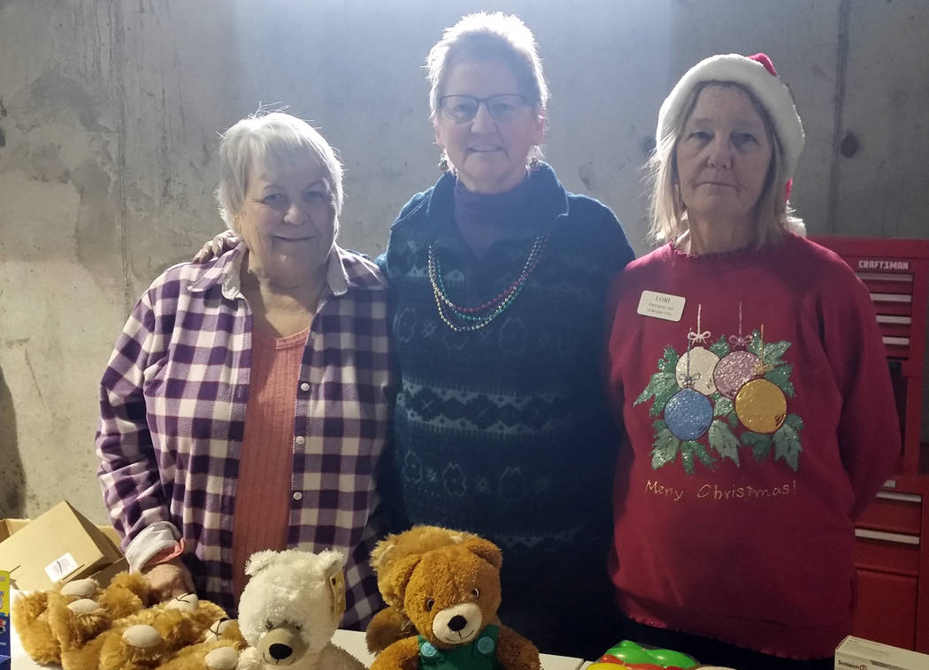 Celia Shortt Goodyear/Boulder City Review Emergency Aid of Boulder City's Angel Tree program served 65 families and 20 senior citizens this year. Organizers, from left, Helen Breeden, Kathleen Woo ...