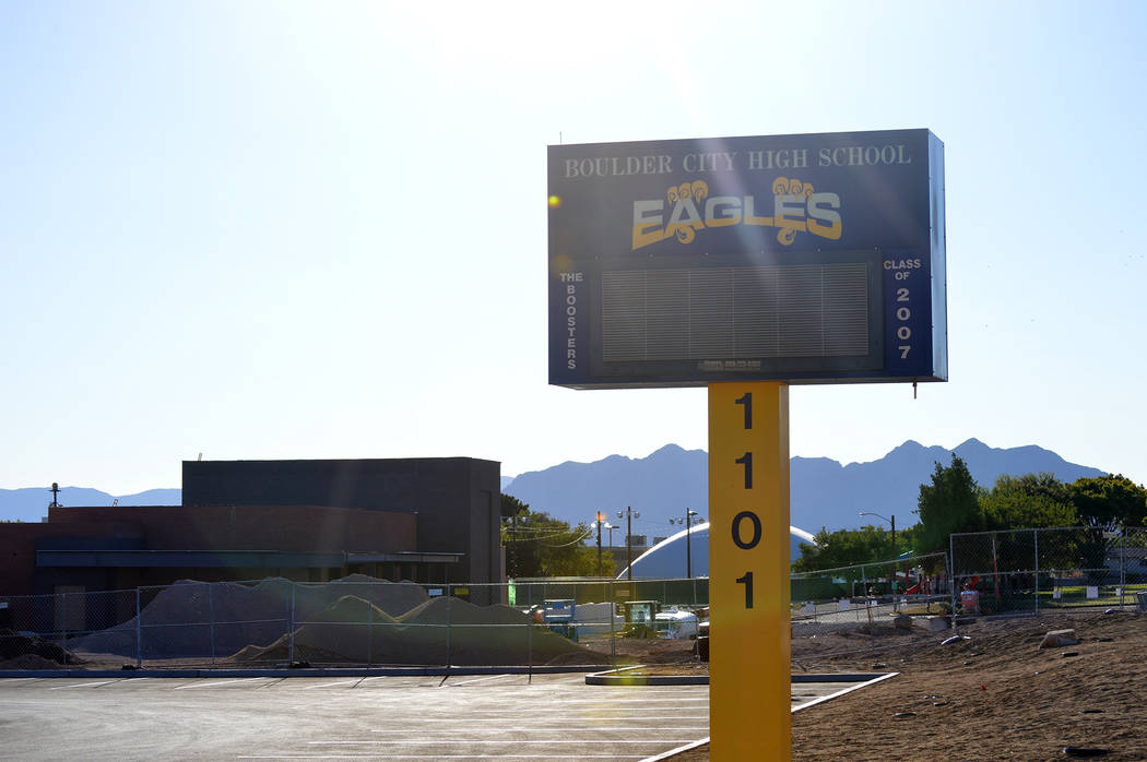 File Boulder City High School eliminated three teaching positions in 2017, including its art program to pay for an administrative position.