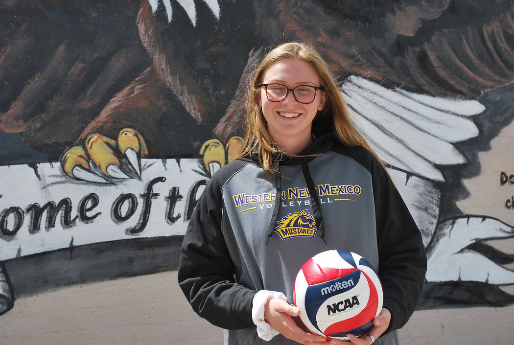 File Volleyball player Maggie Roe, a senior at Boulder City High School, was recently named the lone 3A representative on the all-state first team.