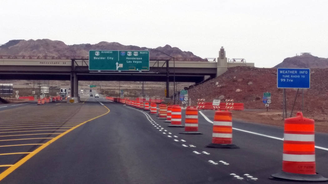 Celia Shortt Goodyear/Boulder City Review The interchange at Interstate 11 and U.S. Highway 95 is still under construction and set to open in April.