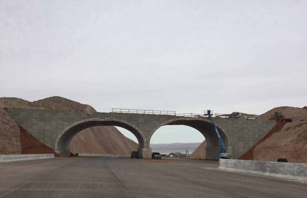 Regional Transportation Commission of Southern Nevada Work continues on the arch bridge over a portion of Interstate 11. The bridge is part of the Phase 2 $235 million, 12.5-mile portion of the in ...