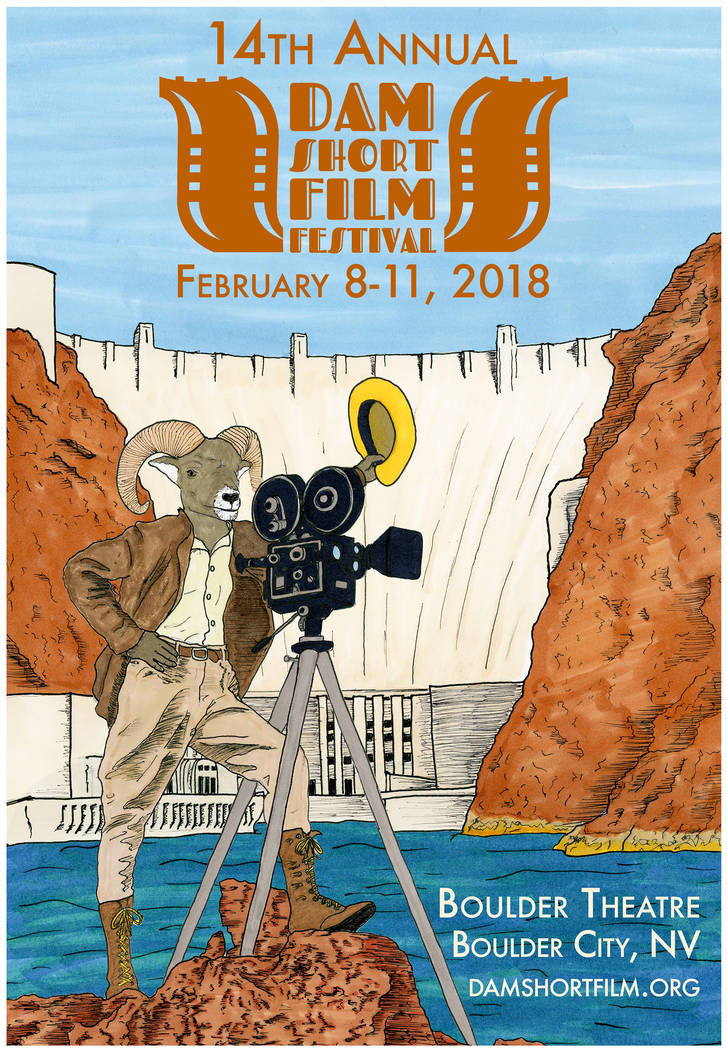 Dam Short Film Festival Boulder City resident and artist James Adams designed this year's poster to highlight familiar things about Boulder City.