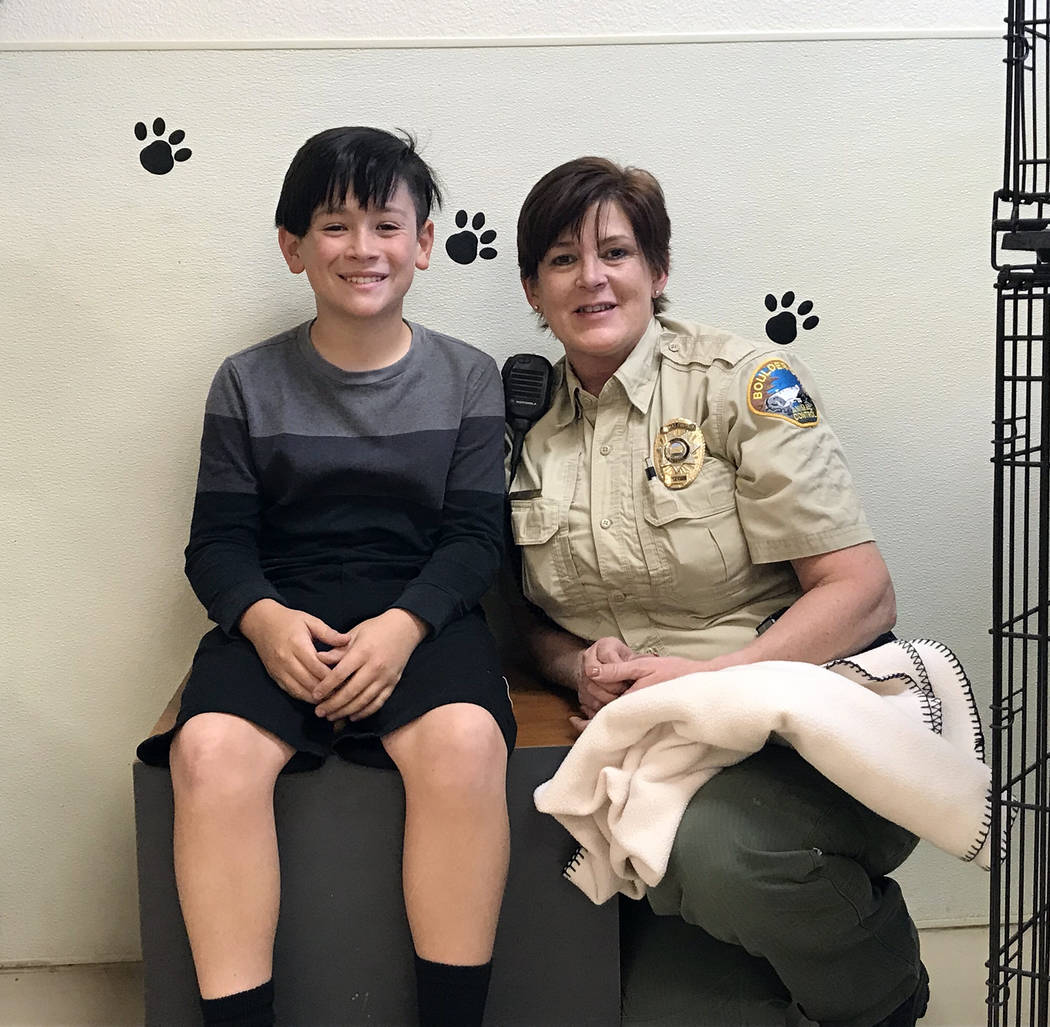 Christi Olsen Calvin Olsen Of Boulder City is holding a benefit for his 11th birthday and asking people to donate goods to the Boulder City Animal Shelter, supervised by Ann Inabnitt.