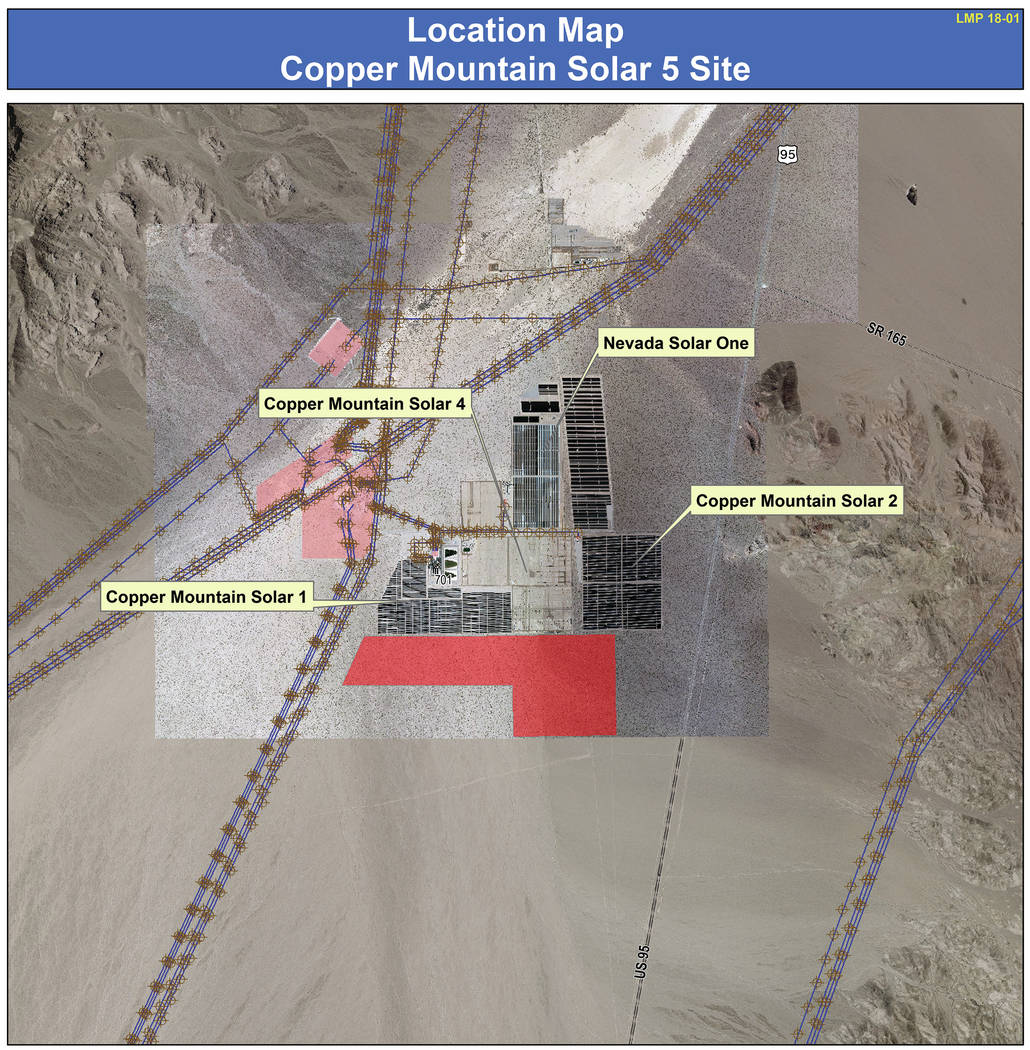 Boulder City City Council approved adding Copper Mountain Solar 5 LLC to the land management plan for additional solar fields.