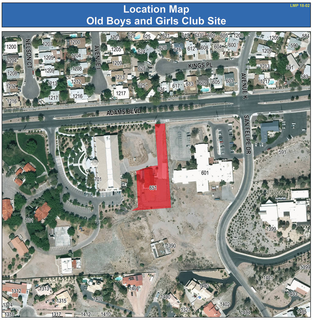 Boulder City City Council approved adding the site of the old Boys and Girls Club facility on Adams Boulevard to the land management plan for residential use.