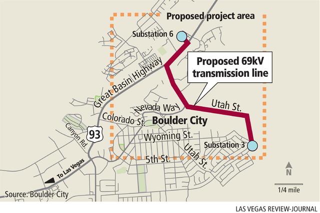 Proposed 69kV transmission line (Gabriel Utasi/Las Vegas Review-Journal)
