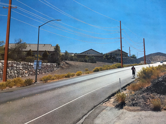 Courtesy  This rendering shows the planning above ground power lines for the 69kV transmission loop along Nevada Way.