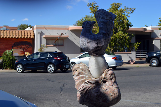 "Max Lancaster/Boulder City Review The statue titled ""Which Came First?"" is one of the three pieces of art owned by the city that were damaged over the past two weeks. The statue was eventually ..."