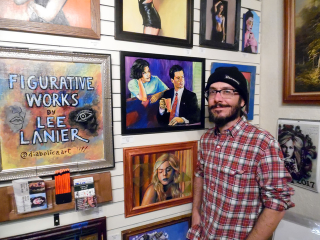 Hunter Terry/Boulder City Review The Boulder City Art Guild will host a reception for Lee Lanier, its featured artist for January and co-founder of the Dam Short Film Festival, from 1-3 p.m. Sunda ...