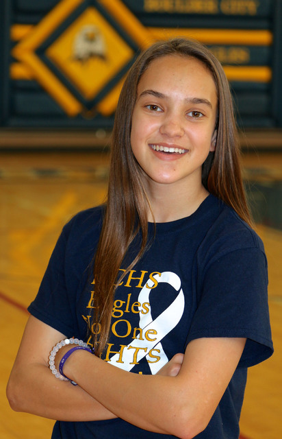 Laura Hubel/Boulder City Review  Each week the coaches at Boulder City High School nominate an athlete to spotlight for contributions made to his or her team. This week's honoree is freshman Kee ...