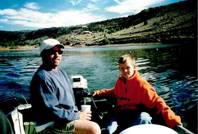 Courtesy photo Frank Freer and his son Josh Johnson enjoy spending time fishing.