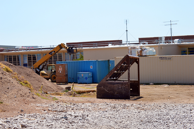 Construction on the new building at the front of Boulder City High School continues. The project will be complete by January 2017 and will feature new classrooms and a new administrative area. Max ...