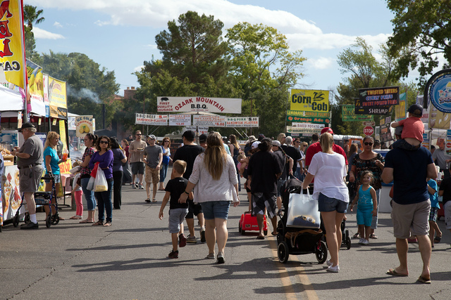 Courtesy photo The 54th annual Art in the Park will bring nearly 350 unique vendors and over 100,000 attendees to downtown Boulder City between Saturday and Sunday for one of the Southwest's large ...