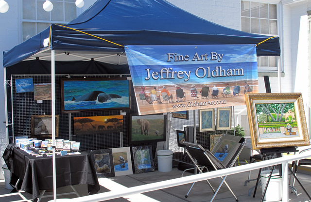 Courtesy photo The Boulder City Art Guild will hold its annual Art on the Patio event from 10 a.m. to 10 p.m. Saturday and Sunday outside the historic Boulder Dam Hotel. There will be complimentar ...