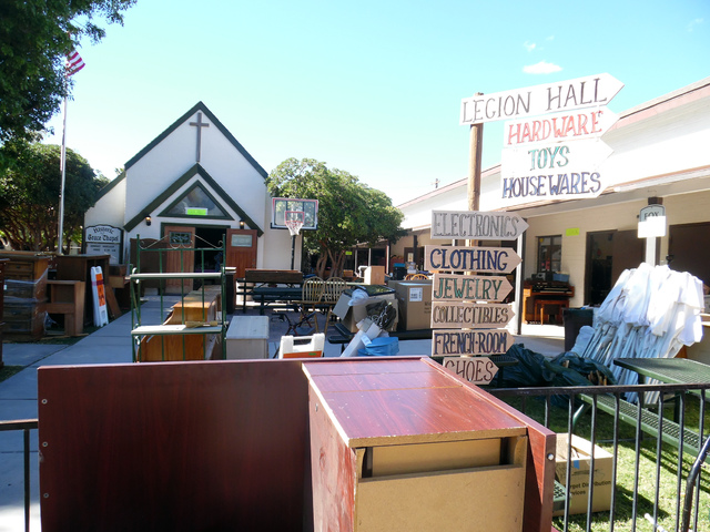 Hunter Terry/Boulder City Review Volunteers are preparing Grace Community Church for the 69th annual Country Store, where thousands of visitors will have access to deals on thousands of donated it ...