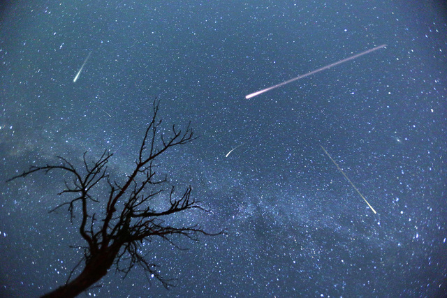 The Perseid meteor shower is expected to peak this weekend and locals are invited to join Lake Mead rangers for a watch party Friday at Calville Bay. Thinkstock