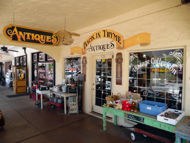 Hunter Terry/Boulder City Review Back in Thyme Antiques, 524 Nevada Way, is one of the oldest antique shops in Boulder City and has helped to build the antique scene that is  thriving in the histo ...
