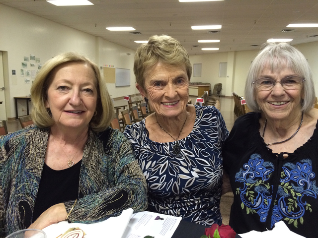 Hali Bernstein Saylor/Boulder City Review Boulder City Chamber of Commerce volunteers, from left, Sue Mazzola, Kay Hendrich and Dorothy Helm were among those enjoying the festivities during the an ...