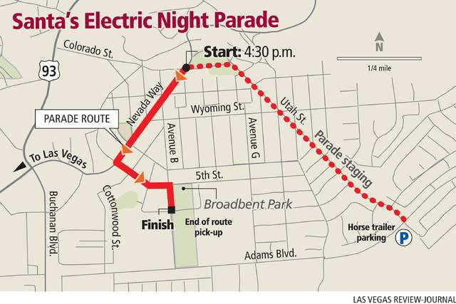 Santa's Electric Night Parade Route