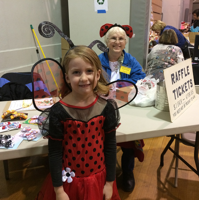 Hali Bernstein Saylor/Boulder City Review Paige Vanier, 5, came dressed as the mascot for the Doodlebug Bazaar presented by the Community Club of Boulder City on Saturday at the Boulder City Recre ...
