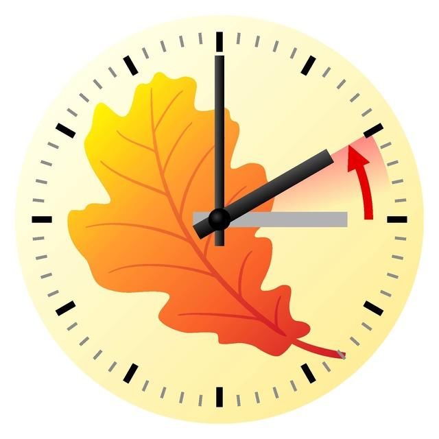 Don't forget to set your clocks back 1 hour Nov. 6