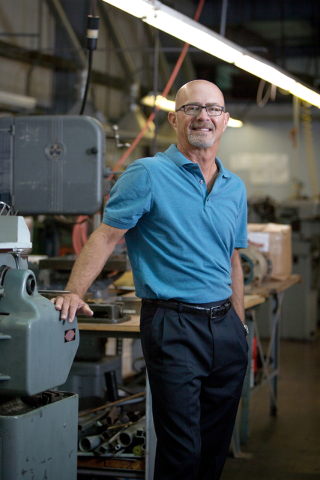 Courtesy photo Cary Fisher, co-owner and son of Fisher Space Pen founder Paul C. Fisher, stands in the Boulder City factory of the international company.