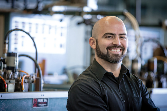 Courtesy photo Matt Fisher, vice president of sales for Fisher Space Pen, is carrying on his grandfather's legacy. He has worked at the Boulder City factory since he was 8 years old.