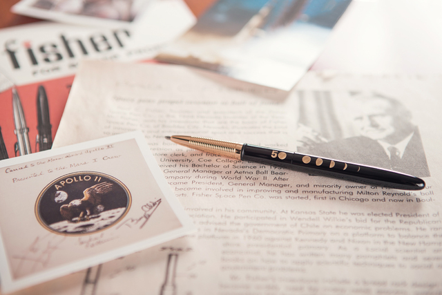 Courtesy photo Fisher Space Pen has created a special edition pen featuring the phases on the moon to mark the 50th anniversary of the space pen.