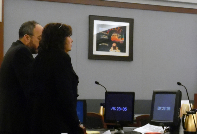 Hunter Terry/Boulder City Review Mary Jo Frazier, the former supervisor of the Boulder City Animal Control, was sentenced to 90 days in Clark County Detention Center and 16-40 months, which will b ...